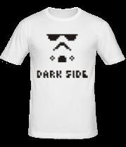 Мужская футболка  Dark side pixels