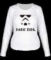 Женская футболка с длинным рукавом Dark side pixels
