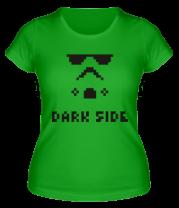 Женская футболка  Dark side pixels