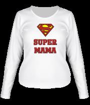 Женская футболка с длинным рукавом Super Мама