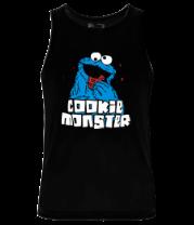 Мужская майка Cookie monster ест печеньку
