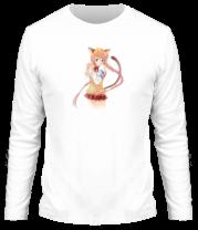 Мужская футболка с длинным рукавом Аниме девушка школьница