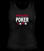 Женская майка борцовка World series of poker