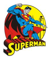 Женская майка борцовка Супермен на крыше