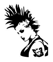 Женская майка борцовка Punk-girl