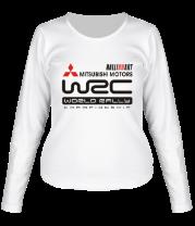 Женская футболка с длинным рукавом Mitsubishi wrc