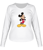 Женская футболка с длинным рукавом Микки Маус
