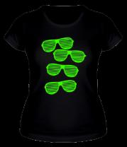 Женская футболка  Очки