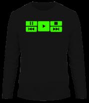 Мужская футболка с длинным рукавом Play music