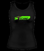 Женская майка борцовка I love techno