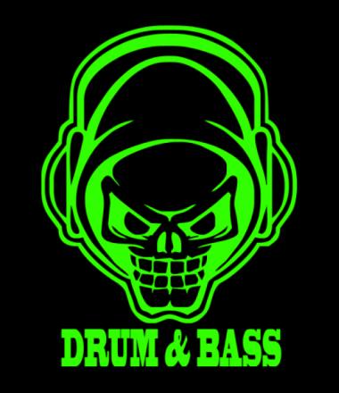 Мужская футболка с длинным рукавом Drum and bass
