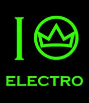 Мужская майка I love electro