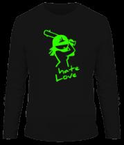Мужская футболка с длинным рукавом Hate Love