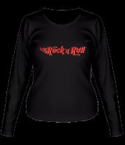 Женская футболка с длинным рукавом Rock'n'Roll