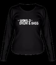Женская футболка с длинным рукавом The World of Drum&Bass