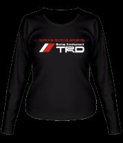 Женская футболка с длинным рукавом Toyota motor sports