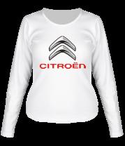 Женская футболка с длинным рукавом  Sitroen (Ситроен)