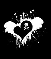 Детская футболка  Сердце с черепком