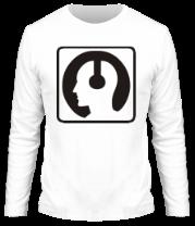 Мужская футболка с длинным рукавом Чел в наушниках