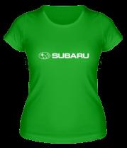 Женская футболка  Subaru