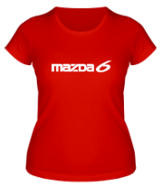Женская футболка  Mazda 6