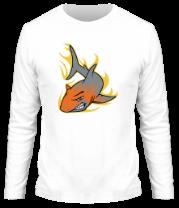 Мужская футболка с длинным рукавом Акула