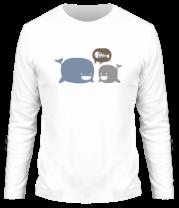 Мужская футболка с длинным рукавом Киты