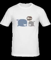 Мужская футболка  Киты