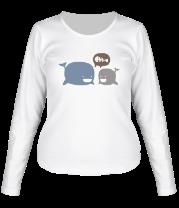 Женская футболка с длинным рукавом Киты