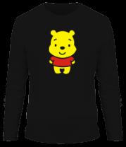 Мужская футболка с длинным рукавом Маленький Винни Пух