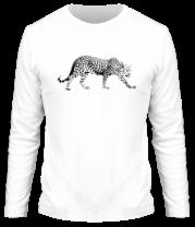 Мужская футболка с длинным рукавом Леопард