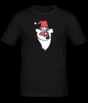 Мужская футболка  Свинья-санта