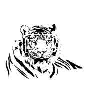 Мужская футболка с длинным рукавом Тигр