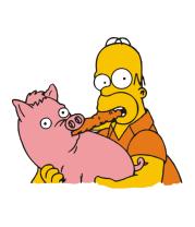 Кружка Гомер и свинья