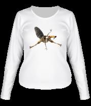 Женская футболка с длинным рукавом Крысобел