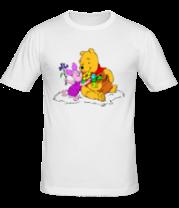 Мужская футболка  Винни пух и пятачок