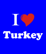 Детская футболка  I love turkey