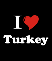 Мужская майка I love turkey