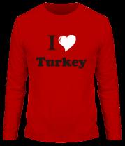 Мужская футболка с длинным рукавом I love turkey