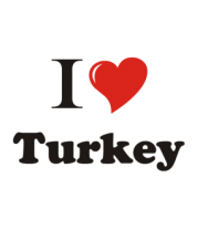 Толстовка без капюшона I love turkey