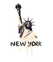 Женская футболка с длинным рукавом New York