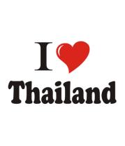 Футболка поло мужская I love thailand