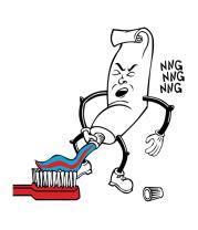 Коврик для мыши Зубная паста