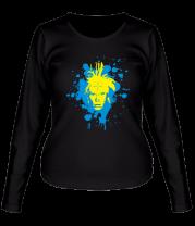 Женская футболка с длинным рукавом Лицо