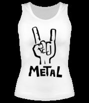 Женская майка борцовка Metal