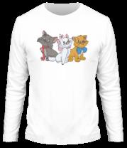Мужская футболка с длинным рукавом Коты аристократы