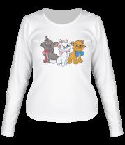 Женская футболка с длинным рукавом Коты аристократы