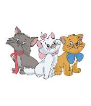 Женская футболка  Коты аристократы