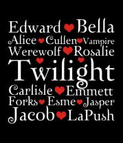 Женская футболка с длинным рукавом Twilight heart