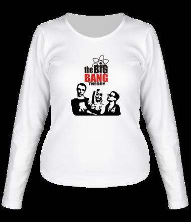 Женская футболка с длинным рукавом Теория большого взрыва